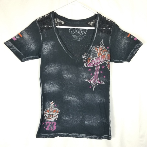 Sinful Tops - Sinful by Affliction T-Shirt
